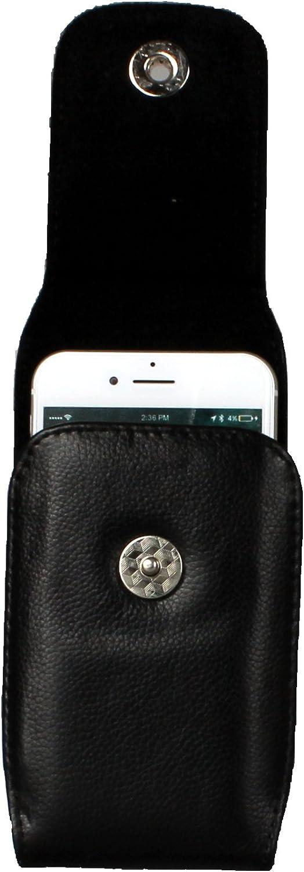 avec Clip Ceinture et Fermeture magn/étique pour Apple iPhone 8//iPhone 7//iPhone 6//6S AQ Mobile /Étui Verticale en Vrai Cuir Couleur Noir