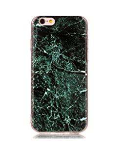 iPhone 6sPlus Case, TIPFLY IMD Marble Pattern Slim-Fit Anti-Scratch Anti-Shock Flexible TPU Gel Soft Shell Back Case for iPhone 6Plus/6sPlus 5.5 inch - Marble Design #6