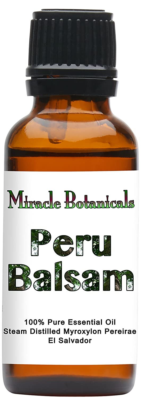 Miracle Botanicals Peru Balsam Essential Oil - 100% Pure Myroxylon Pereirae - 10ml or 30ml sizes - Therapeutic Grade - 30ml/1oz