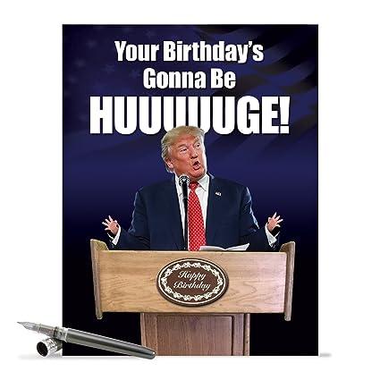 Amazon Funny President Trump Birthday Card 85 X 11