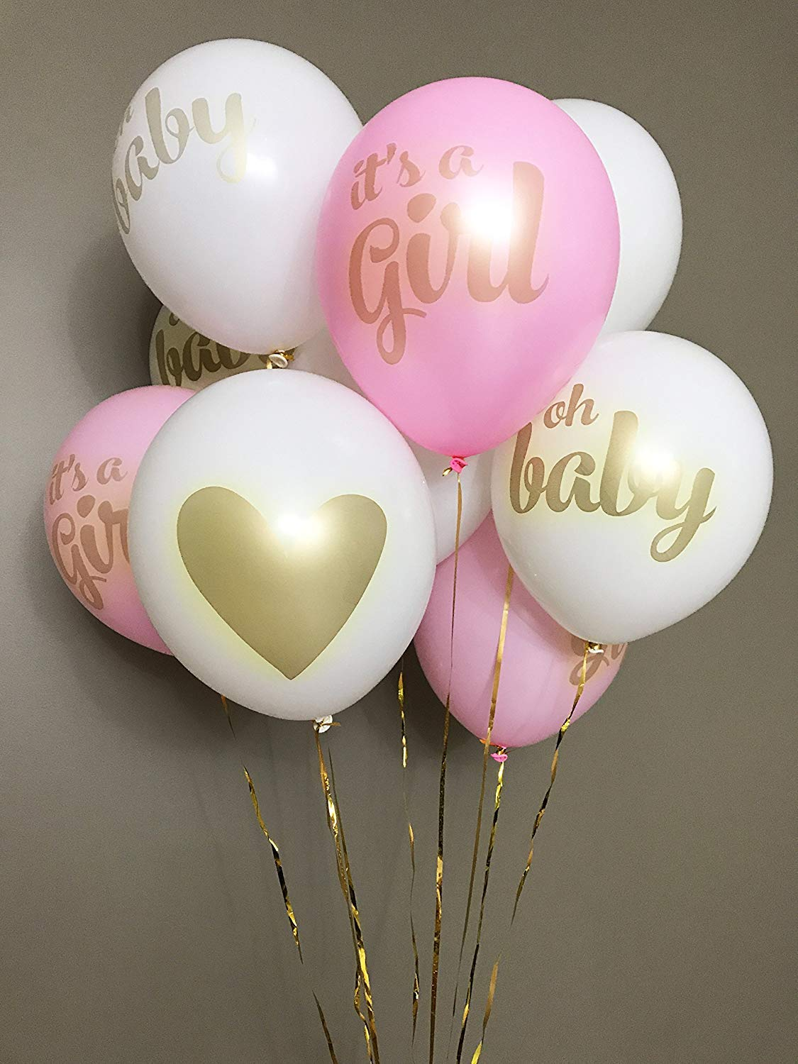 Baby Shower Decorations for Girl - 80PC Bundle Includes - Garland Bunting Banner Bonus+30PC Photo Booth Props Bonus+8PC Balloons Plus+E-Book Prediction Card and Decorations Set with in Ziplock Bag by Golden Babyy (Image #9)