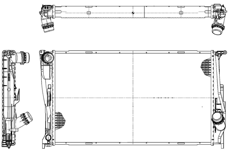 BEHR HELLA SERVICE 8MK 376 754-014  Kü hler, Motorkü hlung Hella KGaA Hueck & Co.