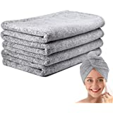 Ultra-Fine Microfiber Hair Drying Towel 43 x 23 Inches Thicken Lengthen - 1 Pcs Original Magic Instant Hair Towel Wrap for Wo