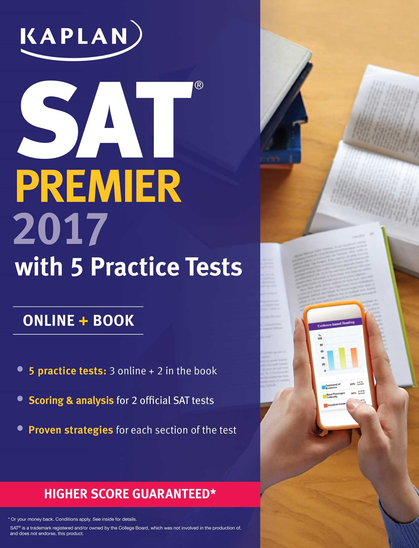 sat premier practice tests online book kaplan test sat premier 2017 5 practice tests online book kaplan test prep kaplan sat amazon co uk kaplan test prep 9781506202280 books