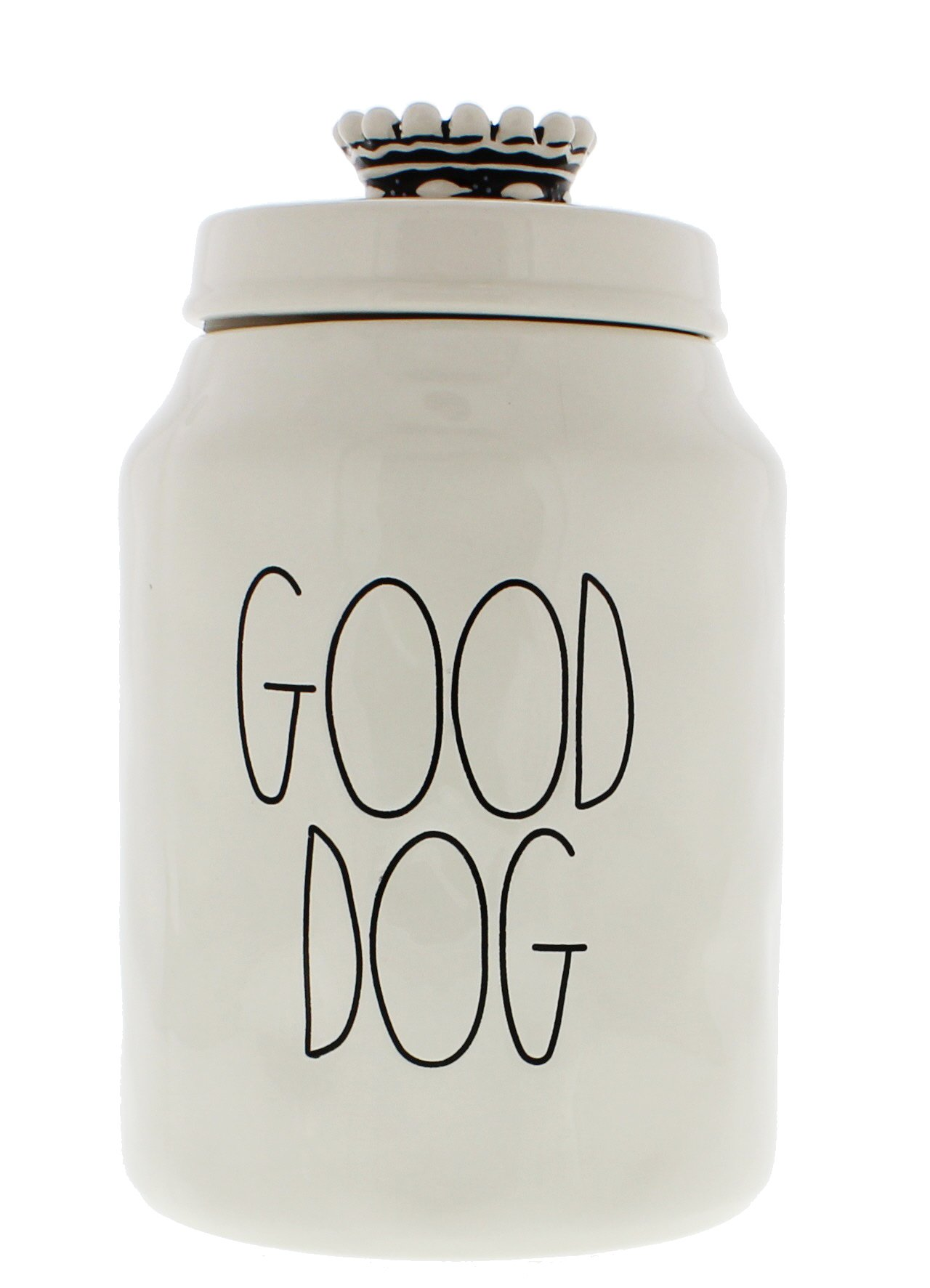 Rae Dunn Magenta Ceramic Canister Good Dog Crown Top Pet Canister by Rae Dunn