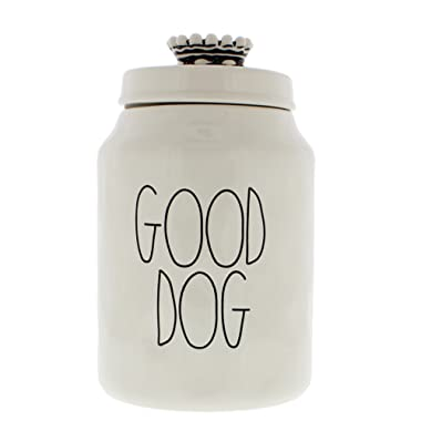 Rae Dunn Magenta Ceramic Canister Crown Top Pet Canister