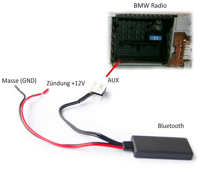 Adaptador Bluetooth para BMW E60 E61 E63 E64 E83 E85 entrada audio música Radio Interface: Amazon.es: Electrónica