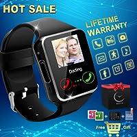 Montre Connectée, Bluetooth Smart Watch Etanche Montre Intelligente Montre Téléphone Sports Bracelet Wrist Watch Smartwatch Compatible Android Samsung Huawei Sony iOS Apple iPhone 6s 7 7s 8 x Plus