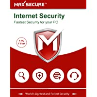 Max Secure Software Internet Security Version 6 - 1 PCs, 1 Year (Email Delivery in 2 Hours - No CD)