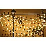 「KBook」led イルミネーションライト ロマンチックな雰囲気 バレンタインデー 電飾 電池式 20球 点滅モデル機能 パーティー デコレーション クリスマス ライト 屋内外装飾用 飾りスター 星 写真道具背景