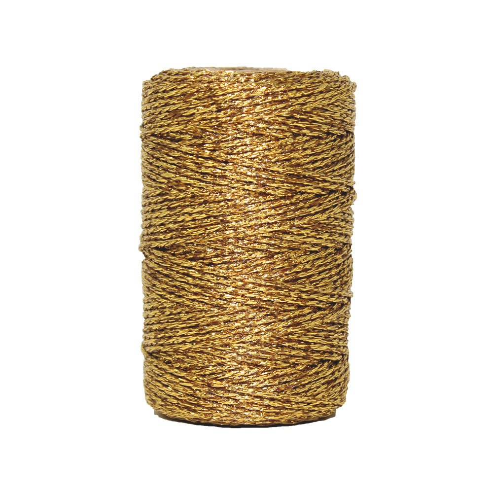 Just Artifacts Eco Metallic Bakers Twine 55yd 11 Ply Solid Light Pink - Decorative Bakers Twine for DIY Crafts and Gift Wrapping JustArtifacts.Net
