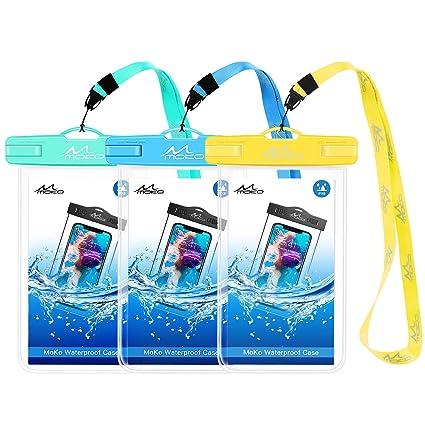 Amazon.com: MoKo - Funda impermeable para teléfono móvil (3 ...
