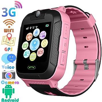 ... de Pulsera Cámara Sistema Android Reloj de teléfono Estudiantes Regalo Niños para niños Compatible con iOS/Android (Rosa): Amazon.es: Electrónica
