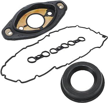 11127552280 Engine Valve Cover Camshaft Adjuster Seal Gasket 11127582245 Valve Cover Gasket Set Engine Valve Cover Camshaft Adjuster Seal Gasket Compatible with BMW