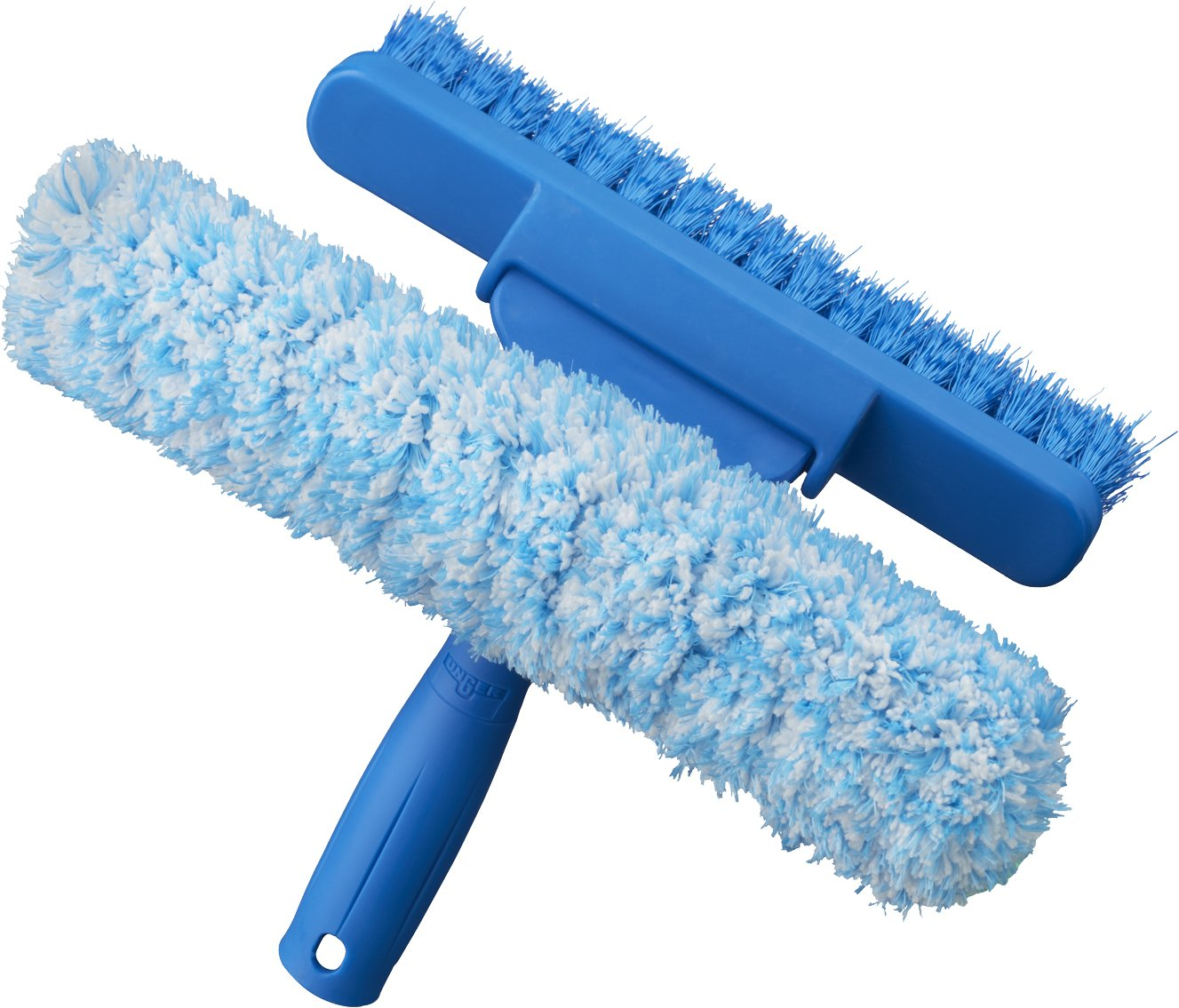 Unger Professional 2-in-1 Window Screen Cleaner with Brush and Scrubber, 11''
