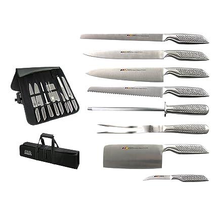 FranquiHOgar Set DE Cuchillos Modelo Holstein: 8 Piezas para Diferentes usos realizadas íntegramente en Acero