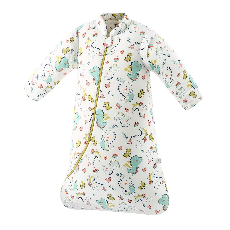 S:H/öhe 60cm-75cm//3-7Monate, Gr/ünerwald Baby Winter schlafsack Kinder schlafsack 3.5 Tog Schlafsaecke aus Bio Baumwolle Verschiedene Groessen von Geburt bis 4 Jahre alt