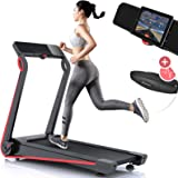 Sportstech F17 treadmill, futuristic console, 2.5PS, 12 km/h, lubrication system, heart rate belt worth £34.95 incl, smartphone app, MP3, foldable, for endurance cardio, training at home
