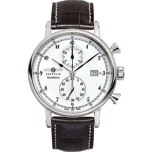 Zeppelin Watches 7578-1 - Reloj analógico de cuarzo para hombre con correa de piel