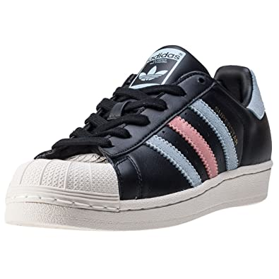 c665521a52b adidas Originals Superstar Womens Trainers Sneakers (UK 3.5 US 5 EU 36,  Black Blue