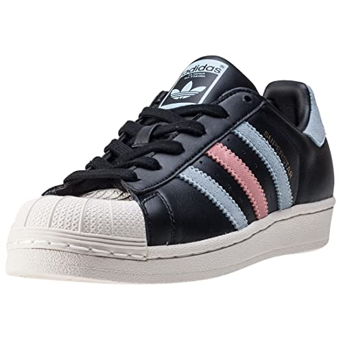 adidas Superstar W Donna Formatori Black Blue - 4 UK