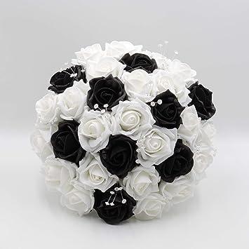 Kunstliche Petals Polly Flowers Brautstrauss Handgemacht Schwarz
