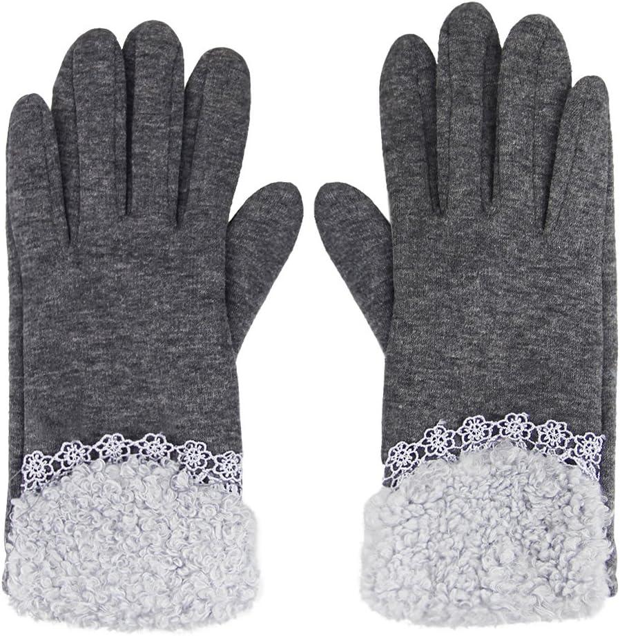 AfinderDE Touchscreen Handschuhe Damen W/ärmer Fingerhandschuhe Winterhandschuhe Arbeitshandschuhe Skihandschuh Warm Strick Pl/üsch Gloves Handschuhe