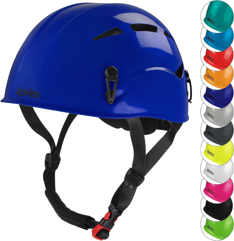 ALPIDEX Casco de Escalada Universal para Mujer y Hombre Casco ferrata en Muchos Colores