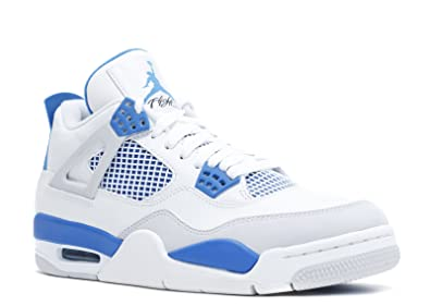 Jordan Air 4 IV Retro Military 4 s quot  White Military Blue Neutral Grey  Men s 49effcb7b
