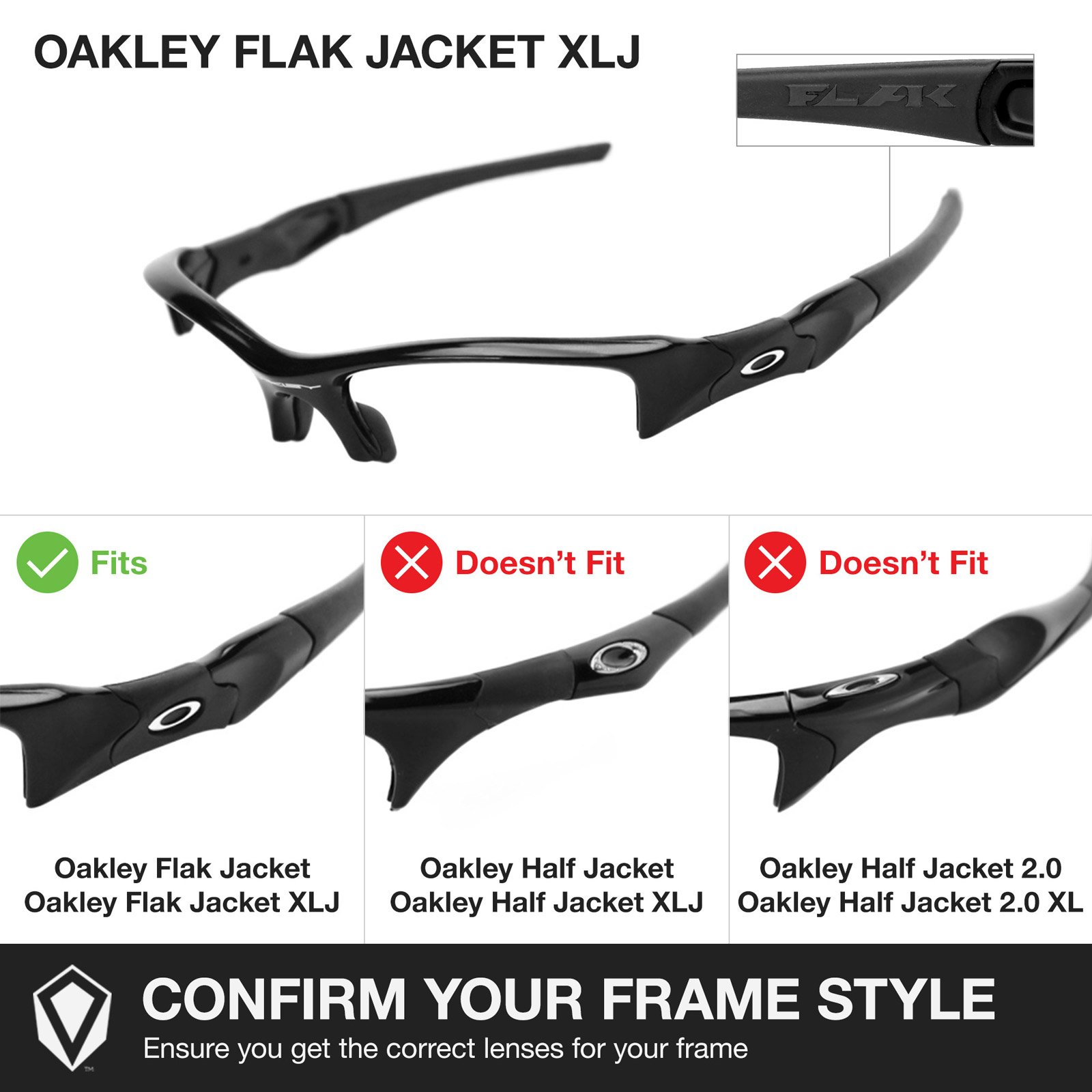 Revant Replacement Lenses for Oakley Flak Jacket XLJ 2 Pair Combo Pack K004 by Revant (Image #5)