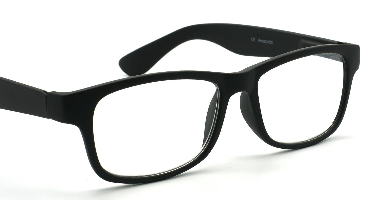 f7350b891220 Amazotti Wayfarer Style Premium Reading Glasses with Soft Touch Matte  Finishing