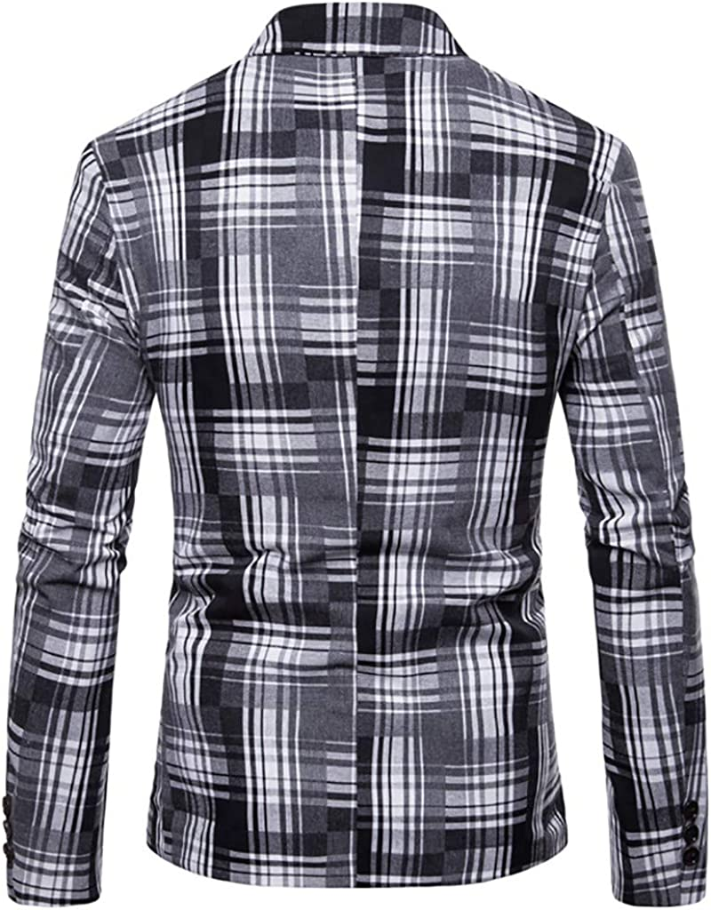 FRAUIT Herren Streifen Anzugjacke Mode Sakko EIN Knopf Anzugjacke Blitzende Smokingjacke Sakko f/ür Party Unterhaltung Slim Fit Stylish Blazer Coat Jacket