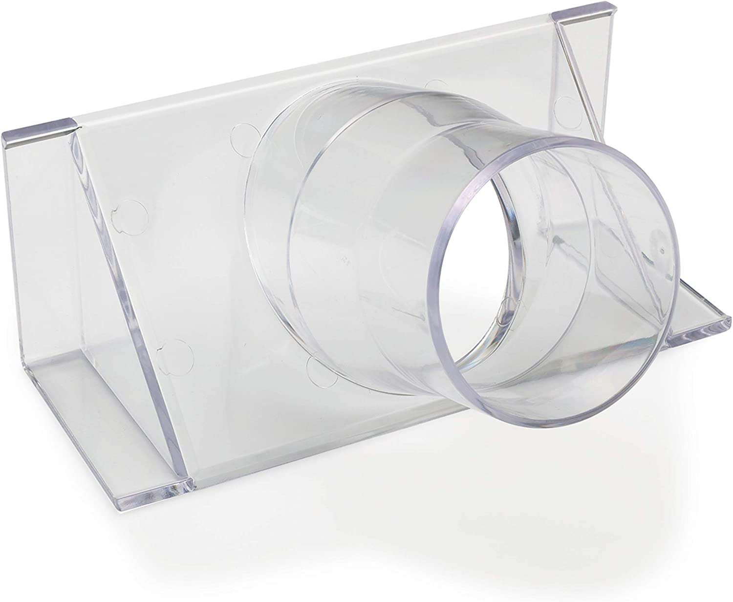 """WoodRiver 2-1/2"""" Clear Fence Adapter Dust Collection Fitting"""