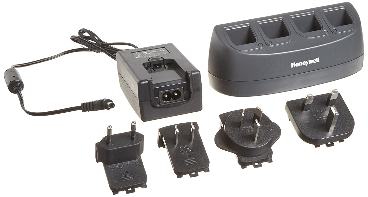 Honeywell MB4-BAT- SCN01NAW0 4-Bay Wall-Mount Battery Charger for Use with Lithium-Ion Batteries from Honeywell Voyager 1202g, Xenon 1902, 3820, 3820i, 4820, and 4820i Imaging Scanners