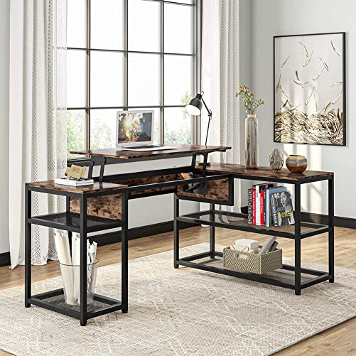Reviewed: Tribesigns Lift Top L-Shaped Desk