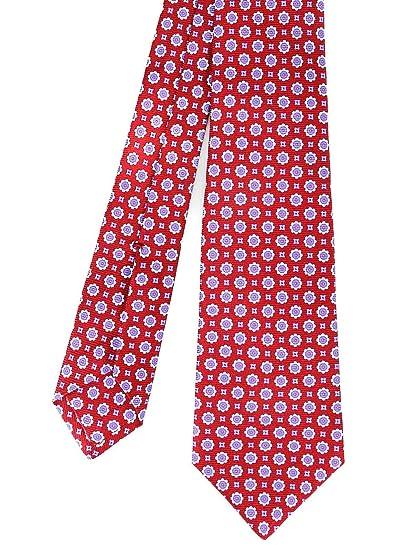 41eb8ac6d122 Kiton Men's 9E3308 Red Silk Tie at Amazon Men's Clothing store: