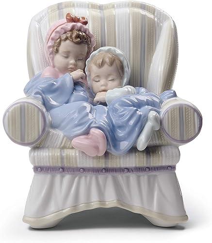 LLADR My Two Little Treasures Children Figurine. Porcelain Baby Figure.