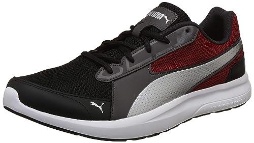 e3268de2492 Puma Men s Black-Red Dahlia-Asphalt Sneakers-11 UK India (46 EU ...