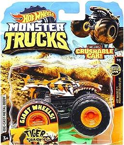 Tiger Shark Giant Wheels Monster Trucks with Crushable Car