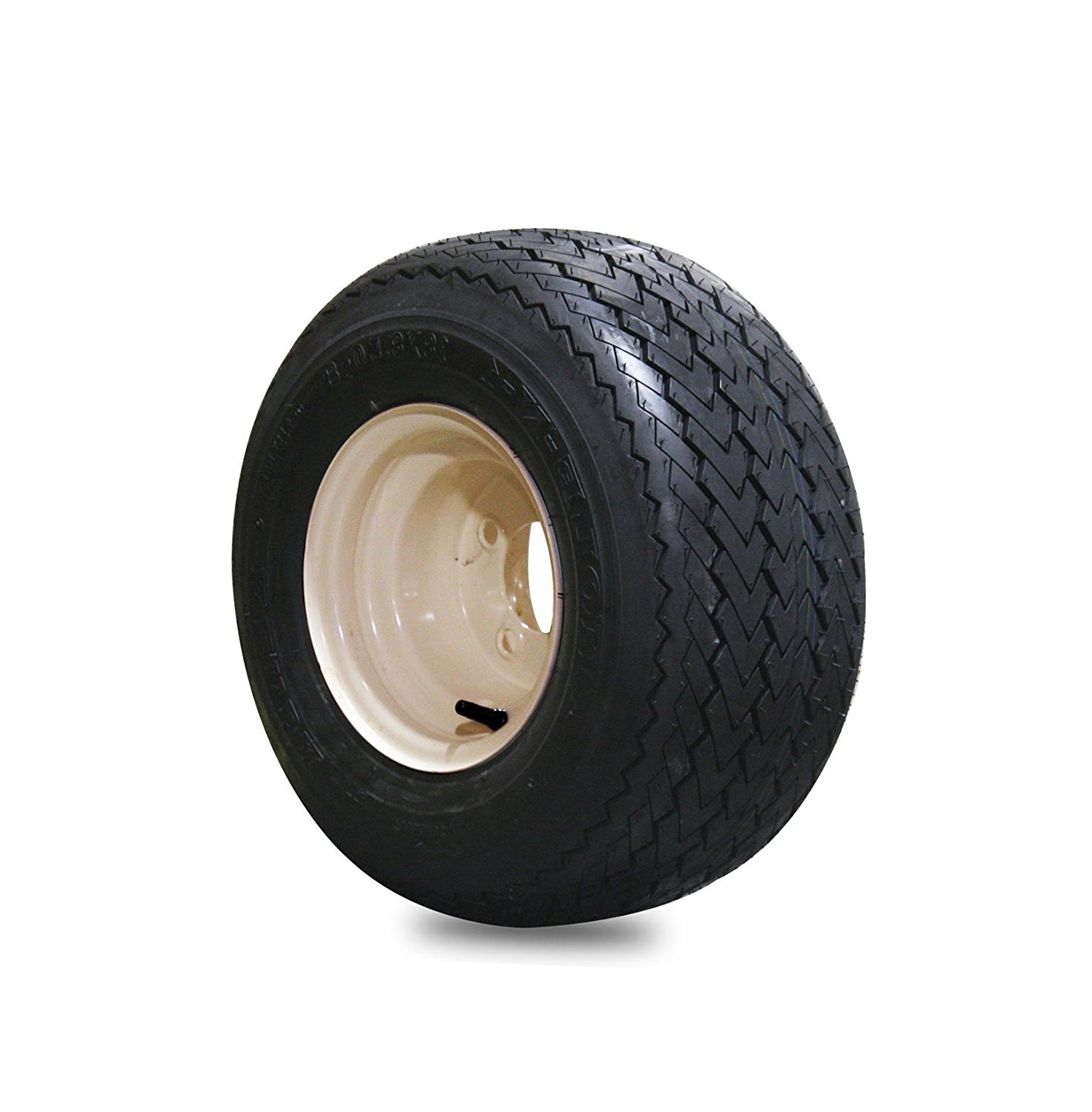 EZGO 18x8.50-8 Hole-N-One Kenda Tire with Tan Wheel Assembly [並行輸入品] B0784H4SDK