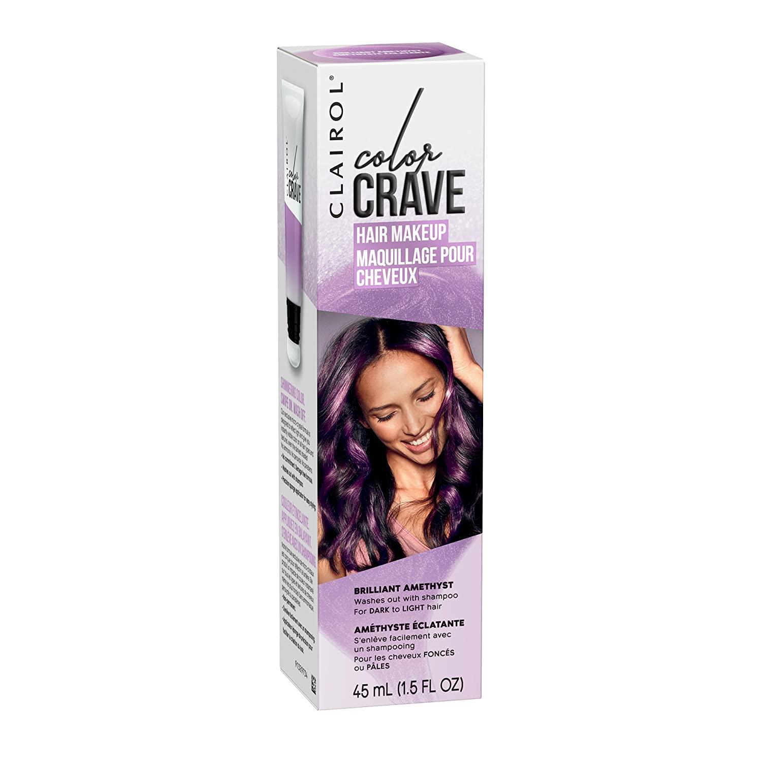 Clairol Color Crave Temporary Hair Color Makeup, Brilliant Amethyst, 1 Count