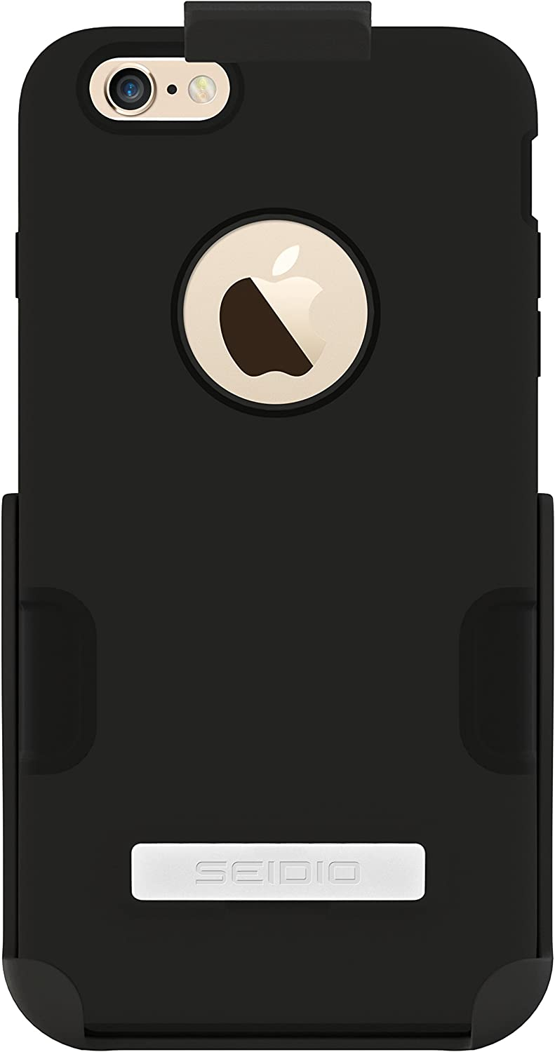 Amazon Com Seidio Dilex Case With Metal Kickstand And Holster Combo For Apple Iphone 6 Plus Retail Packaging Black