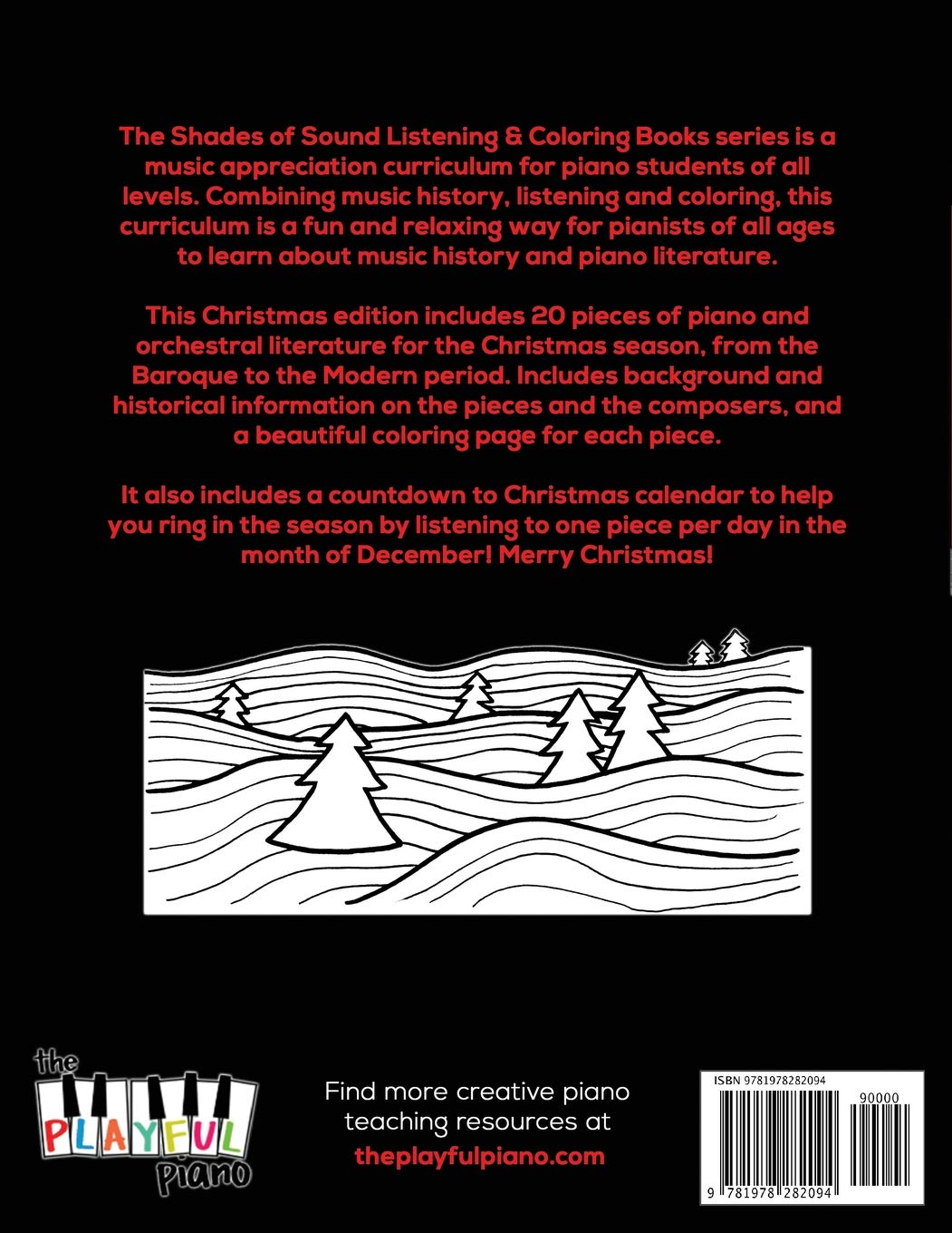 Christmas Shades of Sound: A Listening & Coloring Book for Pianists