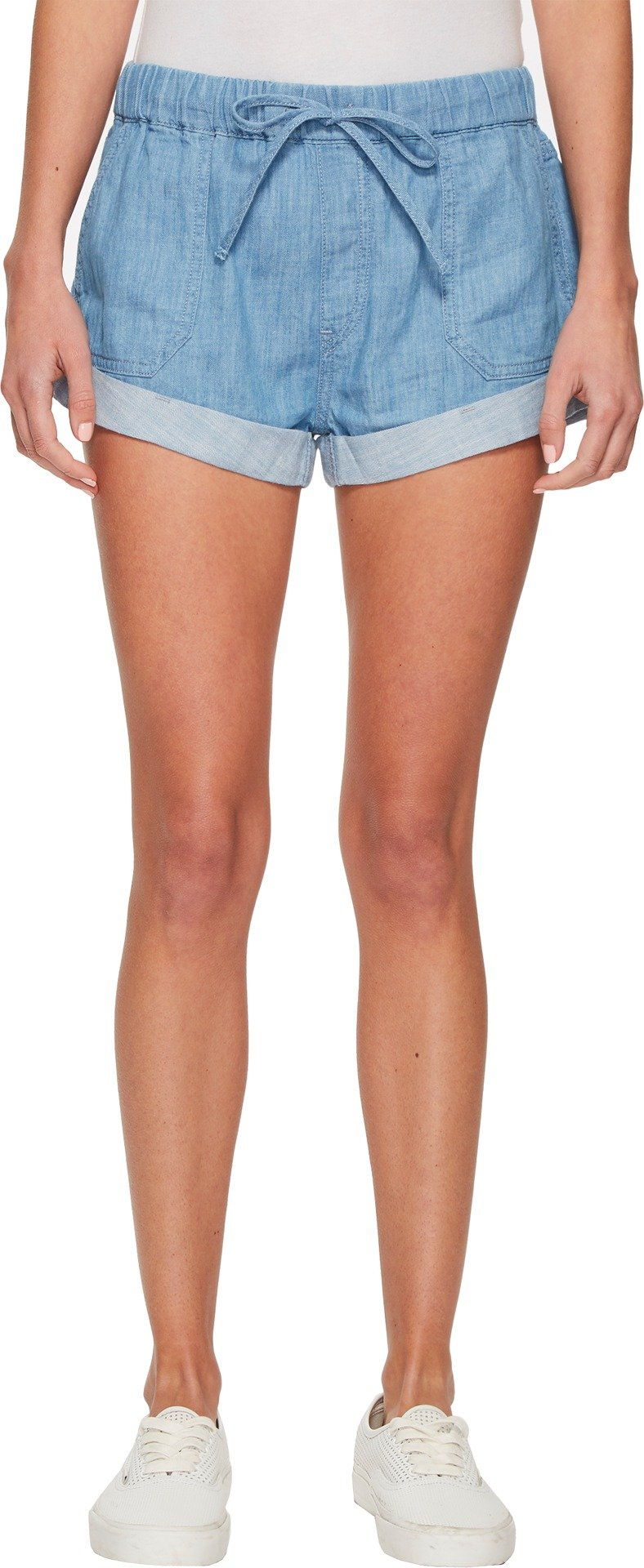 Volcom Junior's Sunday Strut Elastic Boyfriend Fit Short, Light Blue, M