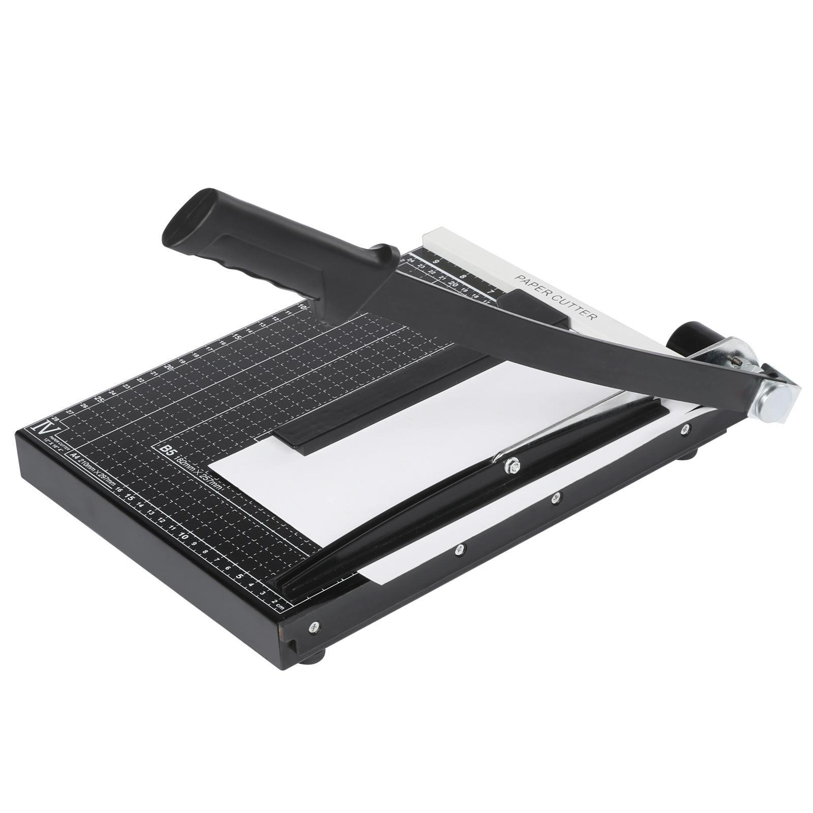 Meflying Large Paper Trimmer, 12 Inch Guillotine Paper Cutter Machine with Metal BaseBlade Gridded ,for Photo Card Cutter A3 A4 B4 Home Office (US STOCK) (Black)