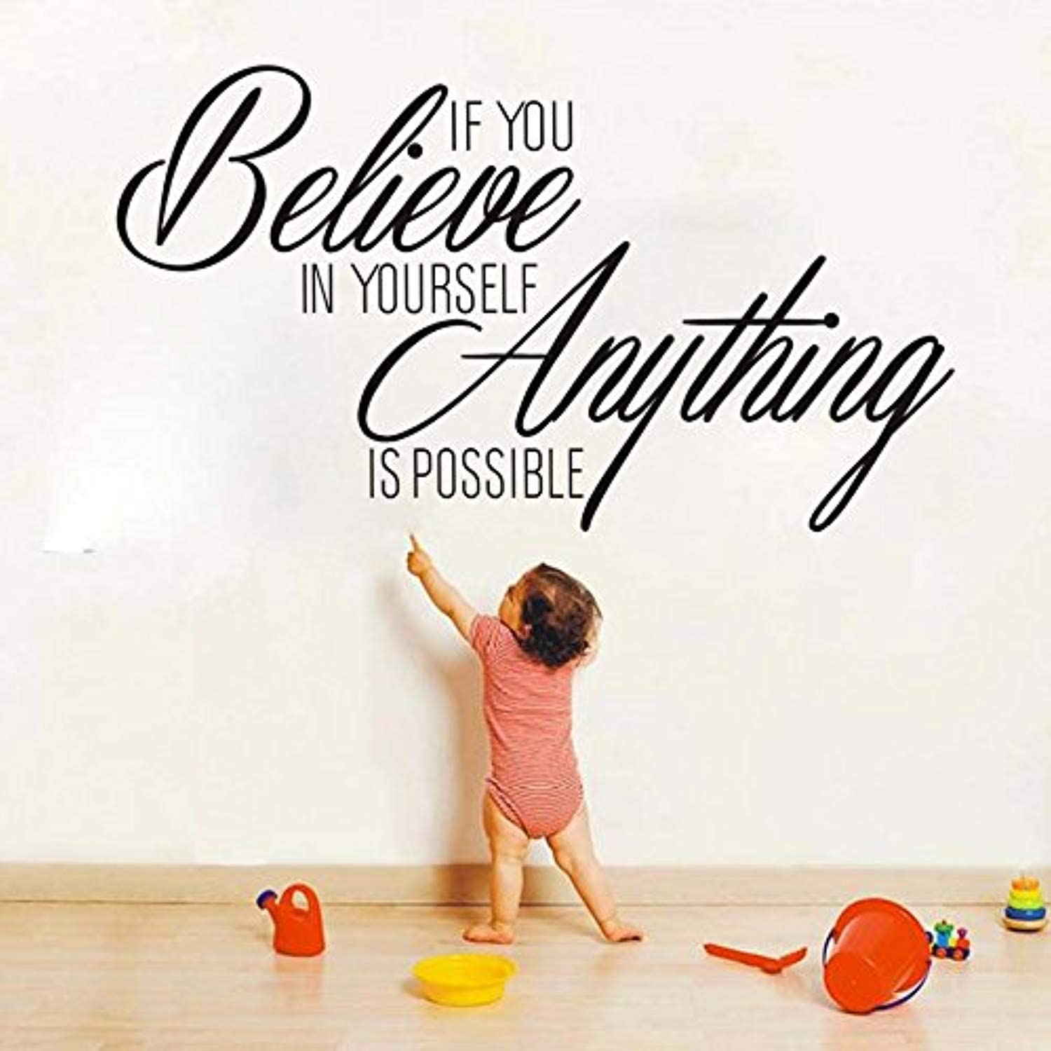 Vinyl Wall Art Words Decals Decor Believe in yourself and anything is possible