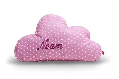 Kissen mit Name Wolke altrosa: selbst gestalten: personalisieren (Baby Deko  Schlafzimmer Kleinkind Kinder Jugendliche Mädchen)