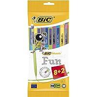 BIC Matic Fun Portaminas punta fina (0,7 mm) - colores Surtidos, Blíster de 8+2