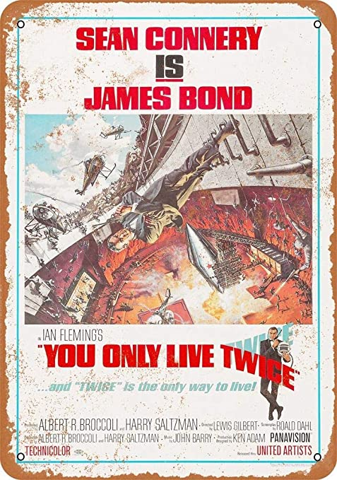 Shunry Sean Connery You Only Live Twice Placa Cartel Vintage ...