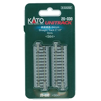 "Kato KAT20030 N 64mm 2-1/2"" Straight (2): Toys & Games"